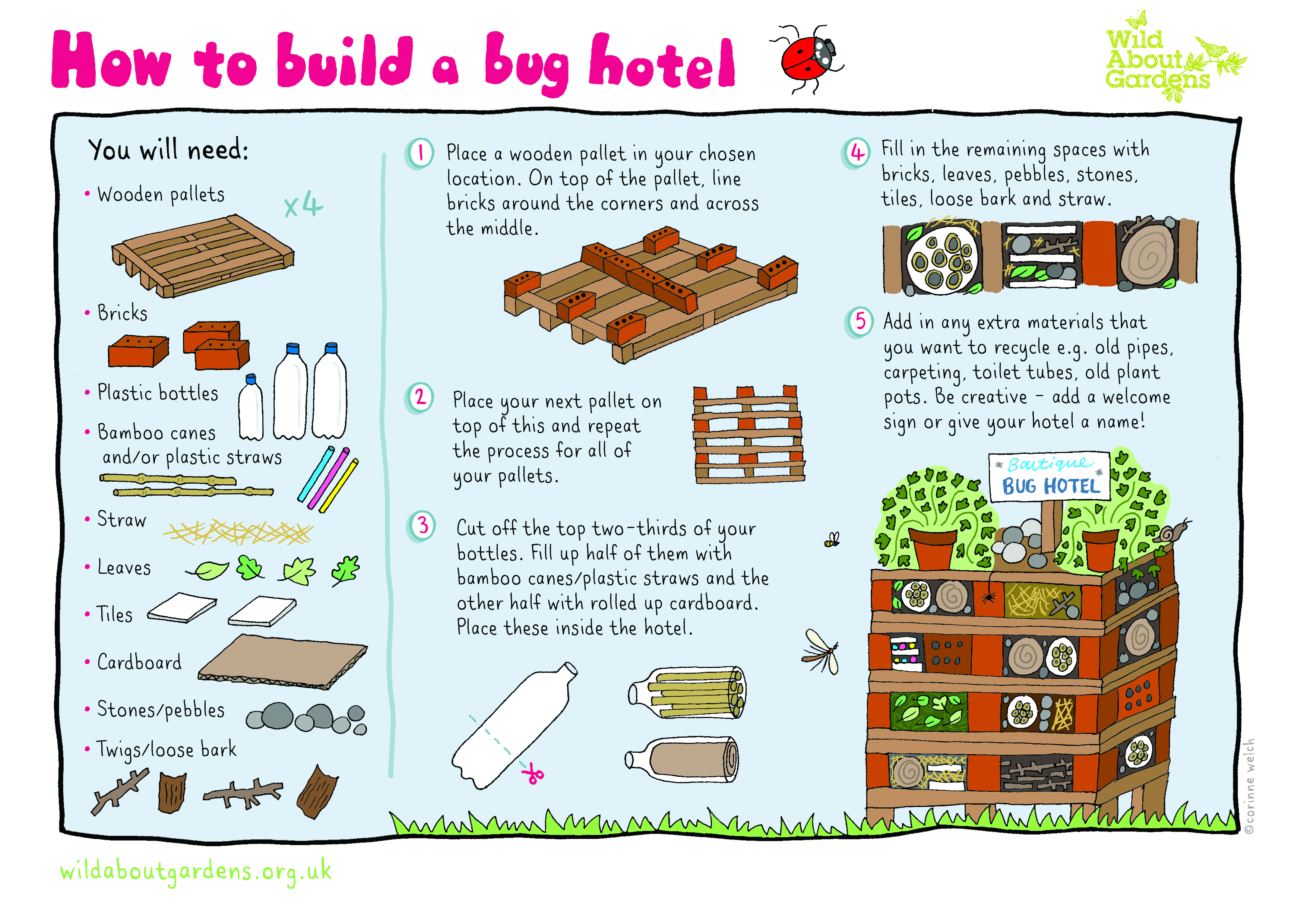 build a bug hotel grow chiswick. Black Bedroom Furniture Sets. Home Design Ideas